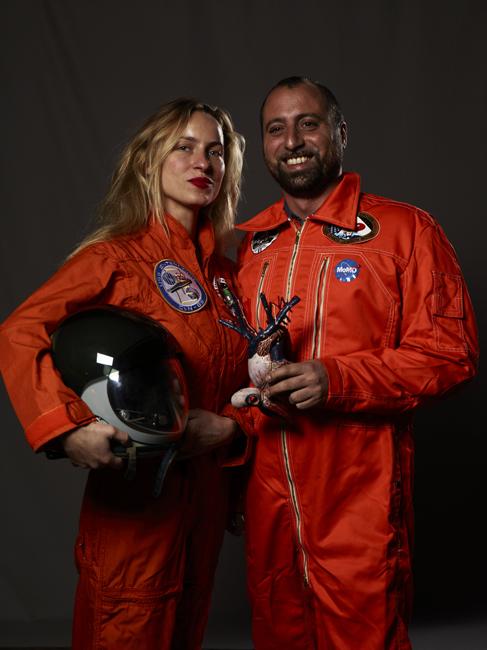 Momo galerie, NASA Patch, astronaut portrait, Le rêve de laika, the laika dream, apollo mission 21, romaric tisserand, umberto napolitano, Lan architecture