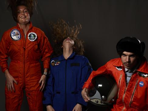 Momo galerie, NASA Patch, astronaut portrait, Le rêve de laika, the laika dream, apollo mission 21, romaric tisserand, melie klein