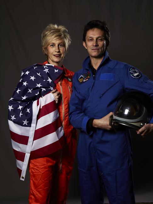 Momo galerie, NASA Patch, astronaut portrait, Le rêve de laika, the laika dream, apollo mission 21, romaric tisserand, vali