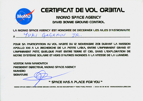 Momo galerie, NASA Patch, astronaut portrait, Le rêve de laika, the laika dream, apollo mission 21, romaric tisserand, ivan vostok ivanovitch